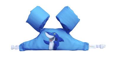 06 HappySwimmer - Zwembandjes/zwemvest voor peuters en kleuters met Haai design