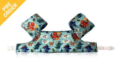09 HappySwimmer - Zwembandjes/zwemvest voor peuters en kleuters met Zeedieren print