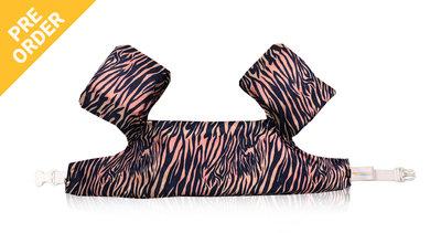08 HappySwimmer - Zwembandjes/zwemvest voor peuters en kleuters met Zebra print