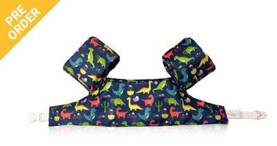 02 HappySwimmer - Zwembandjes/zwemvest voor peuters en kleuters met Dinosaurus print