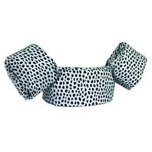 05 HappySwimmer - Zwembandjes/zwemvest voor peuters en kleuters met Cheetah print